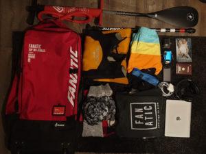 Travel-Bag: In die SUP-Tasche passen neben Board, Pumpe, Paddel auf noch Klamotten für mindestens eine Woche.