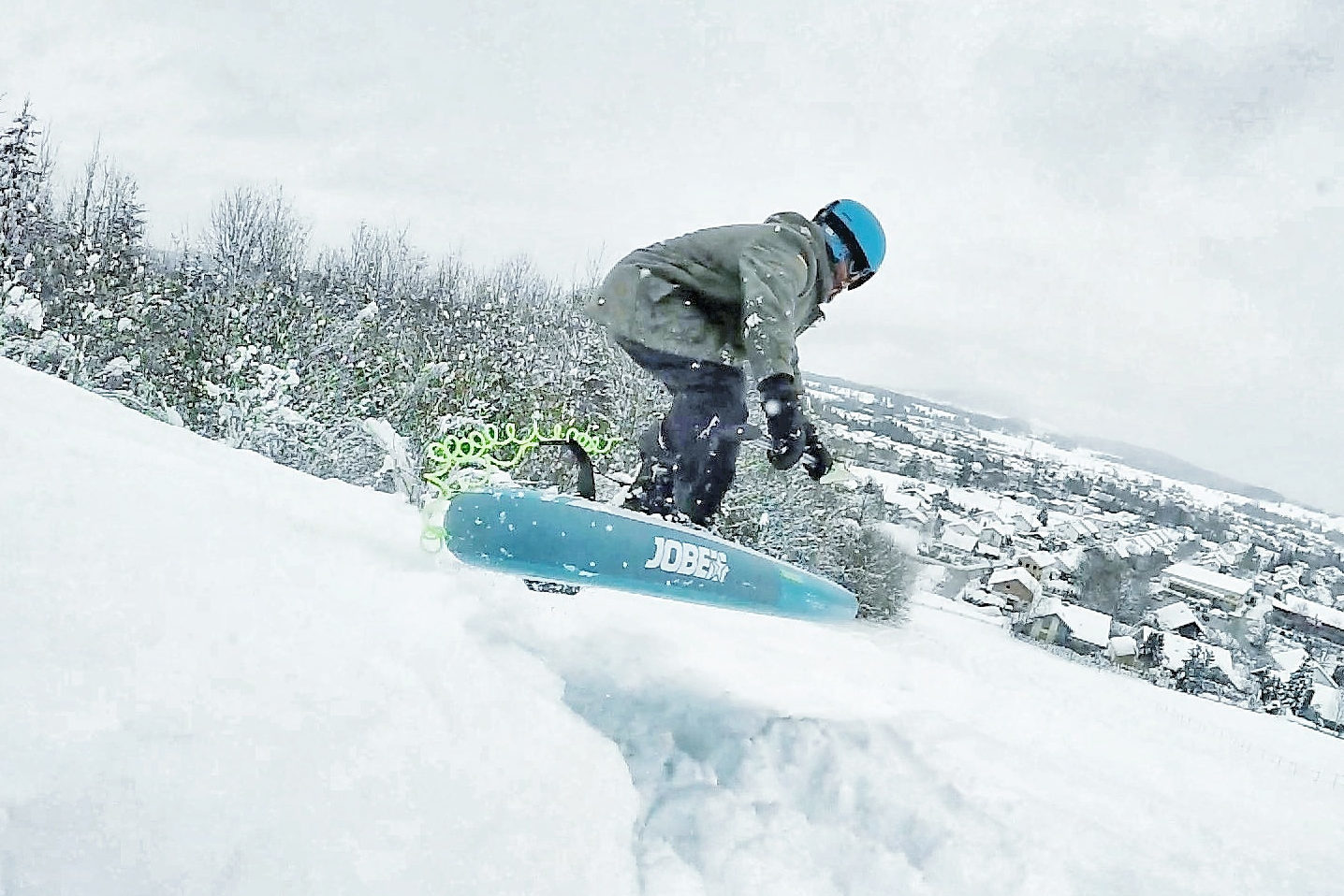 Abgehoben - aber geil: SUP-Snowboarding geht ab wie Schmidts Katze.