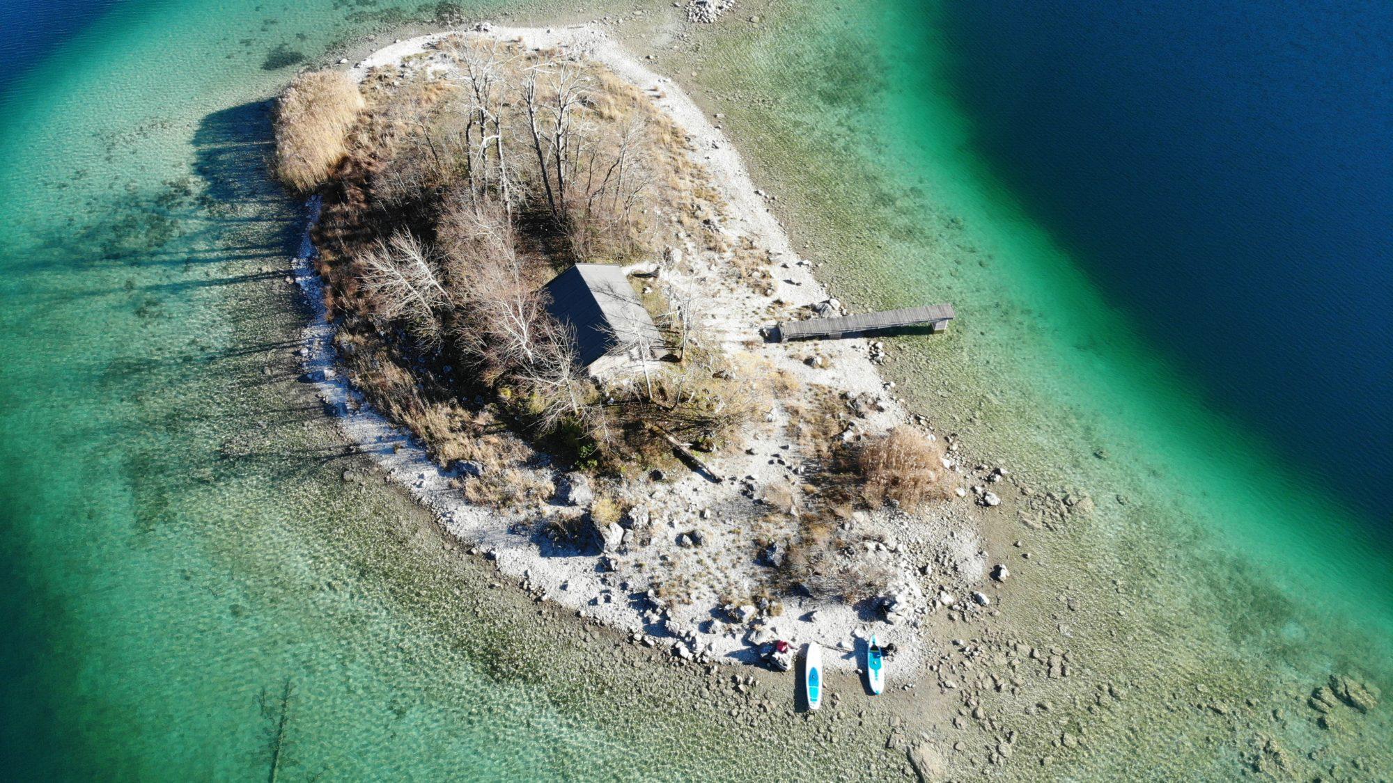 Insel-Paradies: Der Eibsee in Grainau ist Bayerns schönster See.